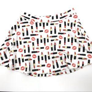 Kendall And Kylie Skirt Lipstick Kiss Print Large